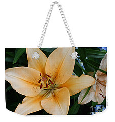 Weekender Tote Bag featuring the photograph Tiger Lily by Dora Sofia Caputo Photographic Art and Design