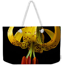 Weekender Tote Bag featuring the photograph Tiger Lily by Jeff Goulden