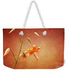 Tiger Lily Weekender Tote Bag by Lena Auxier