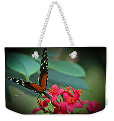 Tiger Longwing Butterfly Weekender Tote Bag by Joann Copeland-Paul