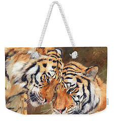 Tiger Love Weekender Tote Bag by David Stribbling