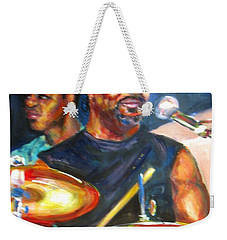 Tiger On Drums Weekender Tote Bag