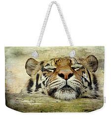 Tiger Snooze Weekender Tote Bag