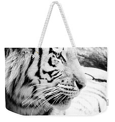 Weekender Tote Bag featuring the photograph Tiger Watch by Erika Weber
