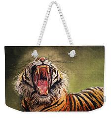 Tiger Yawn Weekender Tote Bag