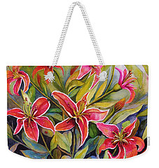 Tigers In My Garden Weekender Tote Bag
