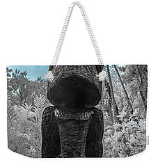 Tiki Man In Infrared Weekender Tote Bag