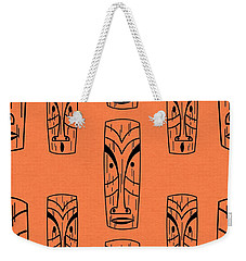 Tiki On Orange Pillow Weekender Tote Bag
