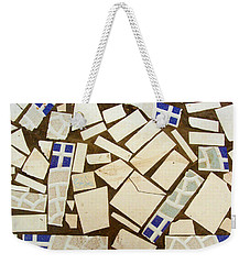 Tile Pieces In Brown Grout Weekender Tote Bag