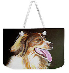 Weekender Tote Bag featuring the painting Tillie by Janice Dunbar