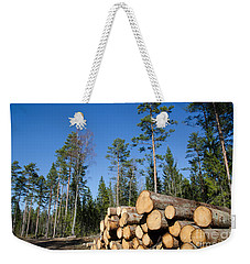 Timber Stack Of Whitewood Weekender Tote Bag