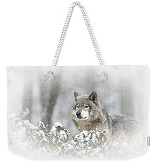 Timber Wolf Pictures 279 Weekender Tote Bag by Wolves Only