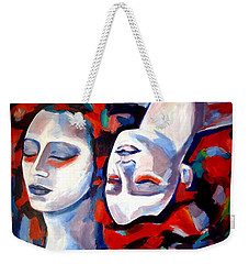Weekender Tote Bag featuring the painting Time Goes By by Helena Wierzbicki