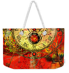 Time Passes Weekender Tote Bag by Ally  White