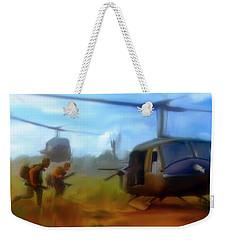 Time Sacrificed II Vietnam Veterans  Weekender Tote Bag by Iconic Images Art Gallery David Pucciarelli