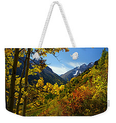 Time Stops Weekender Tote Bag by Jeremy Rhoades