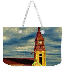 Weekender Tote Bag featuring the painting Time To Go by Jeff Kolker
