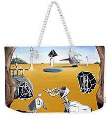 Weekender Tote Bag featuring the painting Time Travel by Ryan Demaree