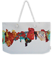 Weekender Tote Bag featuring the mixed media Timeline by Mary Sullivan