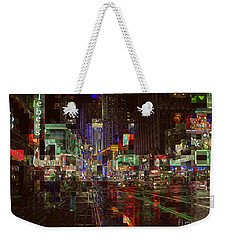 Times Square At Night - After The Rain Weekender Tote Bag