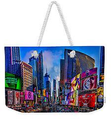 Times Square Weekender Tote Bag by Chris Lord