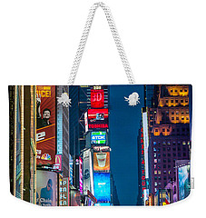 Weekender Tote Bag featuring the photograph Times Square I by Ray Warren