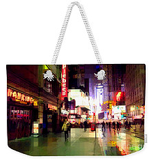 Times Square New York - Nanking Restaurant Weekender Tote Bag