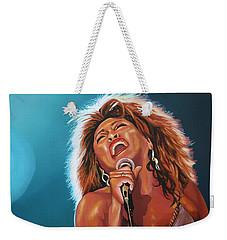 Tina Turner 3 Weekender Tote Bag by Paul Meijering