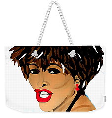 Tina Turner Fierce 3 Weekender Tote Bag by Saundra Myles
