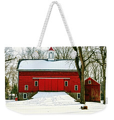 Tinicum Barn In Winter II Weekender Tote Bag
