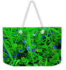 Weekender Tote Bag featuring the photograph Tiny Butterfly by Sherman Perry