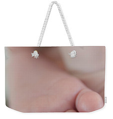 Weekender Tote Bag featuring the photograph Tiny Toes by Vicki Ferrari