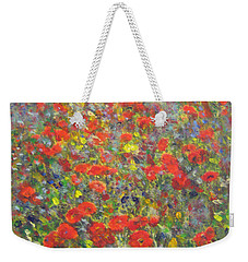 Tiptoe Through A Poppy Field Weekender Tote Bag
