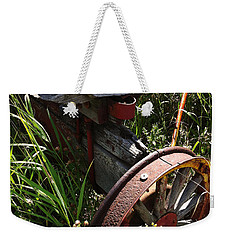 Weekender Tote Bag featuring the photograph Tireless by Meghan at FireBonnet Art