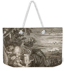 Tithonus, Auroras Husband, Turned Into A Grasshopper Weekender Tote Bag by Bernard Picart