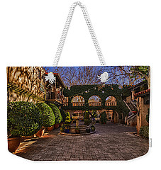 Weekender Tote Bag featuring the photograph Tlaquepaque Village No.1 by Mark Myhaver