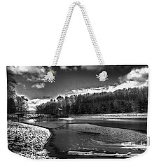 Weekender Tote Bag featuring the photograph To Grand Mother's House by Robert McCubbin