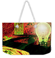 Weekender Tote Bag featuring the mixed media To The Light by Ally  White
