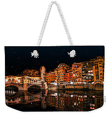 To The Right Of Ponte Vecchio #3 Weekender Tote Bag