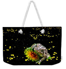 Toad In A Lions Den Weekender Tote Bag by Mike Breau