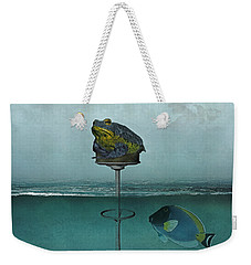 Toadstool Obviously Weekender Tote Bag by Galen Valle