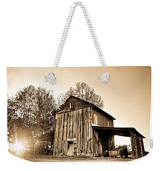 Tobacco Barn In Sunset Weekender Tote Bag