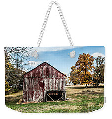 Weekender Tote Bag featuring the photograph Tobacco Barn Ready For Smoking by Debbie Green