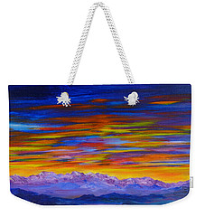 Tobacco Root Mountains Sunset Weekender Tote Bag
