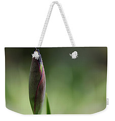Today A Bud - Purple Iris Weekender Tote Bag
