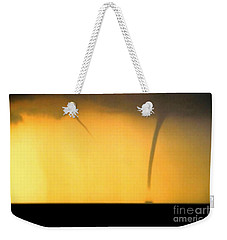 Todays Weather Sunny But Strong Chance Of A Water Spout Or Two Weekender Tote Bag