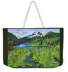 Todd Lake Mt. Bachelor Weekender Tote Bag