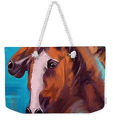 Weekender Tote Bag featuring the painting Together 1 by Go Van Kampen