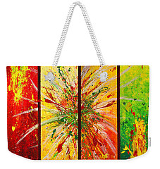 Abstract Assembled Into One Image Weekender Tote Bag
