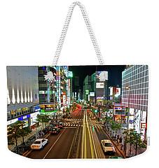 Tokyo Neon Streaks Weekender Tote Bag